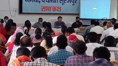 Photo of सूरजपुर: जिला पंचायत सीईओ ने आकाश छिकारा ने किया गोधन न्याय योजना की समीक्षा बैठक।